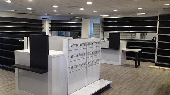 Comptoir de pharmacie mobilier et agencement croix de for Meubles 4 moulins