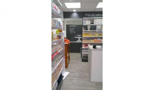 agencement de pharmacie, commerce, magasin - croix de pharmacie