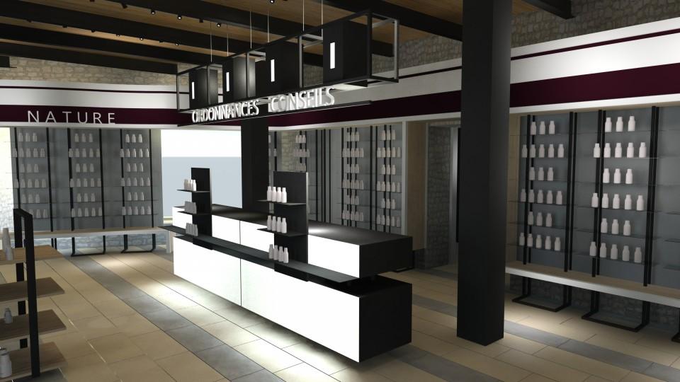 pharmacie du chateau severac le chateau 12 agencement de pharmacie commerce. Black Bedroom Furniture Sets. Home Design Ideas