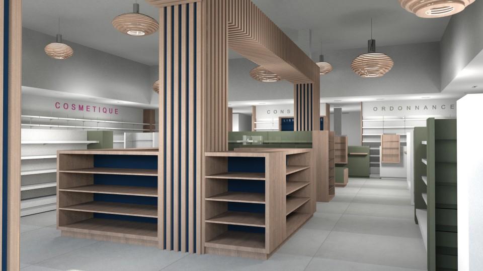 etude de projet pharmacie agencement de pharmacie commerce magasinagencement de pharmacie. Black Bedroom Furniture Sets. Home Design Ideas